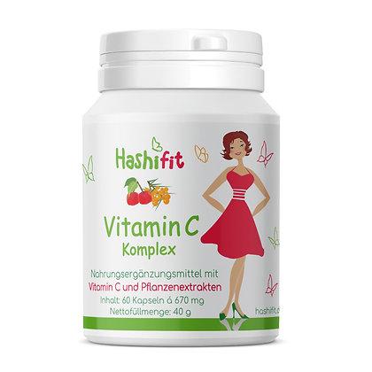 Hochwertiges Vitamin C Komplex mit Extrakten aus Sanddorn Acerola Bioflavonoiden gepuffertem Vitamin C magenfreundlich