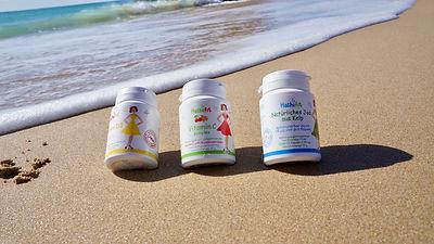 Hashifit Vitamin D3 2400 IE, Vitamin C Komplex gepuffert mit Acerola Sanddorn Extrakt, Natürliches od aus kelp