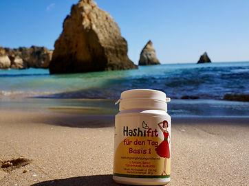 Hashifit Basis 1 für den Tag am Strand mit Selen Hashimoto Vitamine, Schilddrüsenunterfunktion