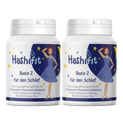 Hashifit Basis 2 für den Schlaf Doppelpack mit Melatonin für eine gute Nacht