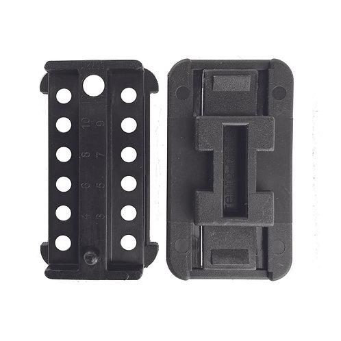 12 Pin Female Plug & Cap With Clip