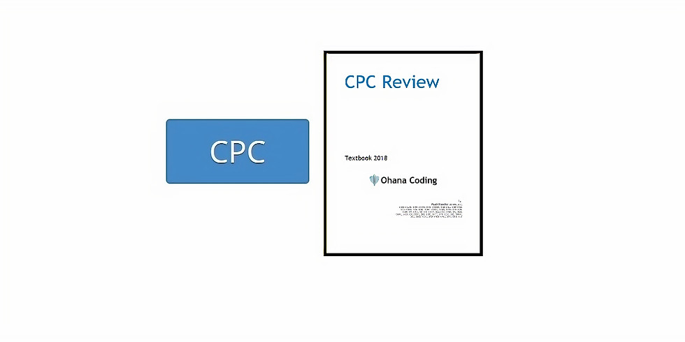 CPC Review Class December 1, 2018 WITH Textbook & Recording $84.55