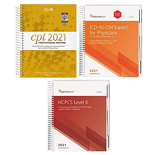 CPT, ICD-10-CM, and HCPCS 2021 bundle