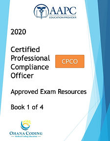 2020 book cover CPCO Approved Exam Resou