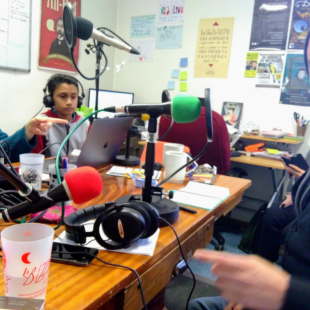 Clarence en visite à RadioLà