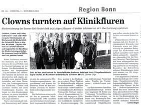 Kinderklinik Rhein Zeitung 11.11.03