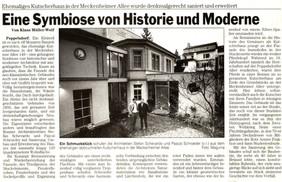 Kutscherhuas Bonner Rundschau 05.12.01.