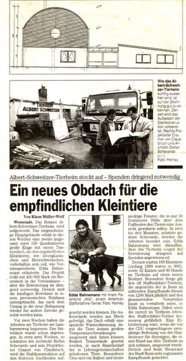 Tierheim Bonner Rundschau 15.03.00