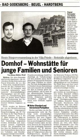 Domhof Bonner Rundschau 29.02.2000