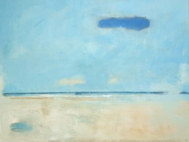 Blue cloud coastline