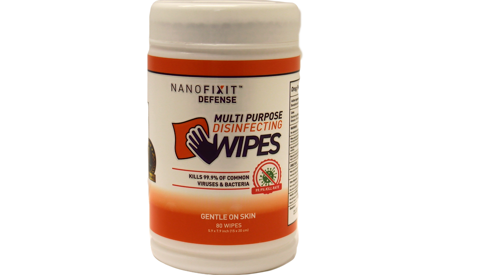 NanoFixIt Defense Disinfecting Wipes 80 count