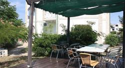 Garden sun terrace barbecue