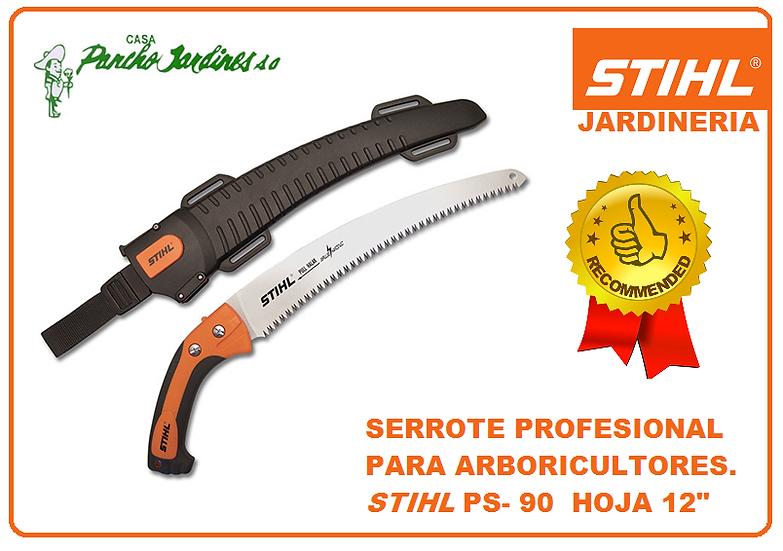 "SERROTE PROFESIONAL CURVO  DE 12"" DE HOJA DE CORTE  STIHL PS90"