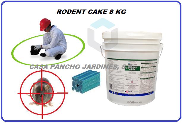 RODENT CAKE, RODENTICIDA URBANO CON DIFACINONA CUBETA 8 KG