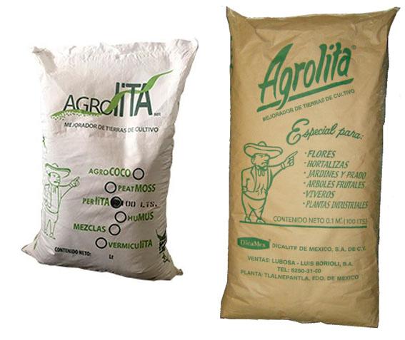 SUSTRATO AGROLITA, SACO DE 100 LTS (12.5 KG APROX) MEJORADOR DE SUELOS