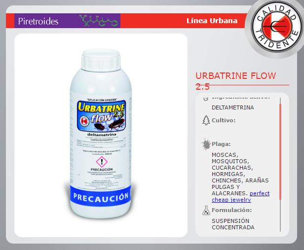 URBATRINE 2.5 FLOW,  DELTAMETRINA, SIN OLOR, SIN MANCHAS, 1 LT