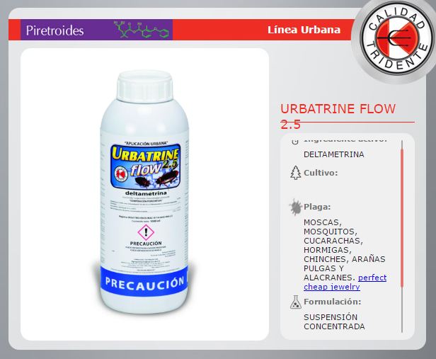 URBATRINE 2.5 FLOW,  DELTAMETRINA, SIN OLOR, SIN MANCHAS, 100 mlS