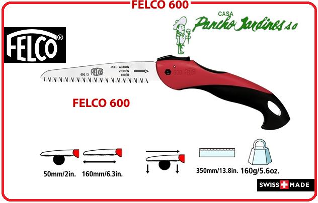 SERROTE DE BOLSILLO PLEGABLE PROFESIONAL FELCO 600, MAXIMA CALIDAD SUIZA
