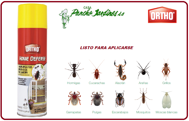 HOME DEFENSE BY ORTHO, INSECTICIDA DOMESTICO EN SPRAY , 444 ml