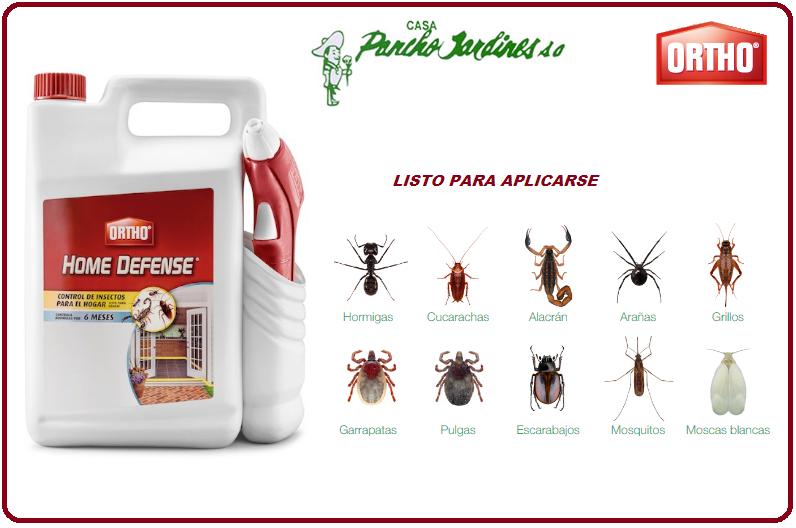 HOME DEFENSE BY ORTHO, INSECTICIDA DOMESTICO LISTO PARA APLICAR, 3.7 LTS