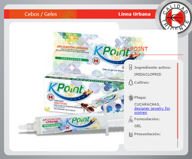 K-POINT GEL, IMIDACLOPRID GEL CUCARACHICIDA, 30 Gramos