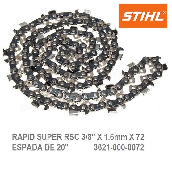 "CADENA CORTADA STIHL RSC 20"" 3/8 X 1.6 X 72 MS 290 A 660"