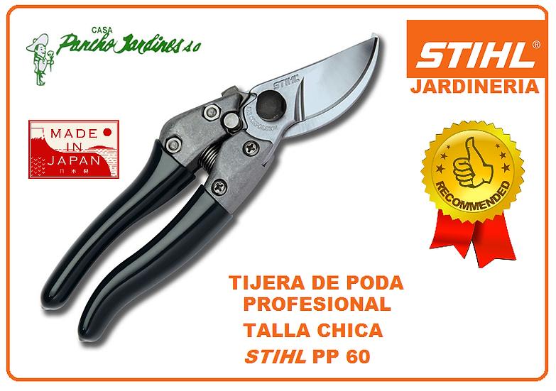 TIJERA A UNA MANO PROFESIONAL TALLA CHICA EN ACERO, STIHL PP60