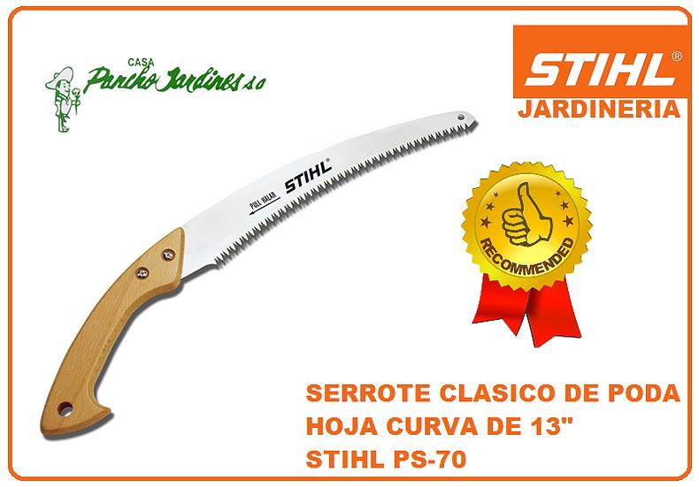 """SERROTE PROFESIONAL CURVO CLASICO DE 13"""" DE HOJA DE CORTE  STIHL PS70"""