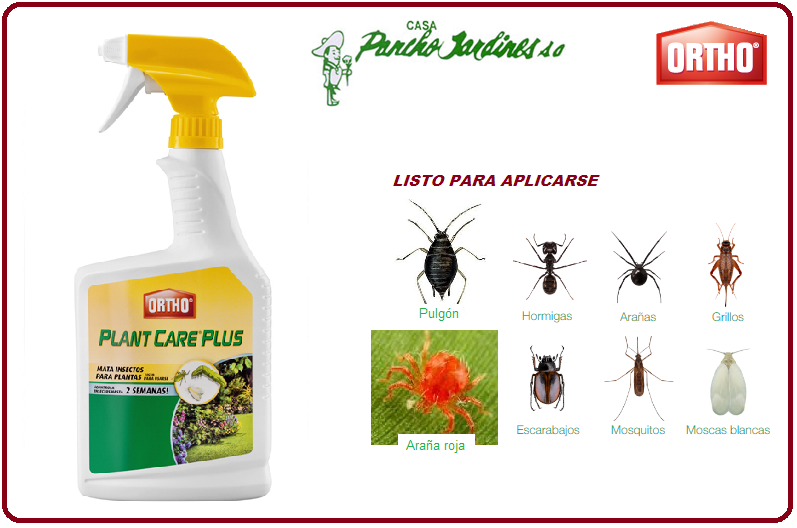 PLANT CARE PLUS, BY ORTHO, INSECTICIDA PARA EXTERIORES LISTO PARA APLICAR, 700ml