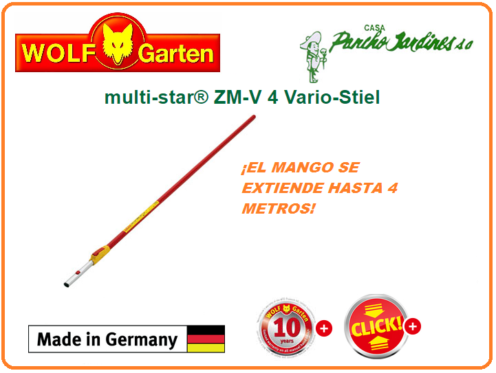 MANGO TELESCOPICO MULTI STAR 4 MTS BY WOLF GARTEN
