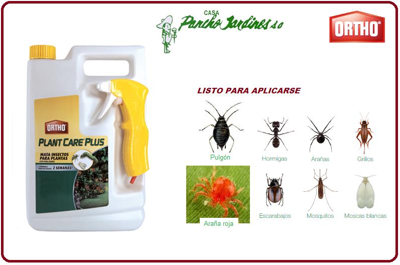 PLANT CARE PLUS, BY ORTHO, INSECTICIDA PARA EXTERIORES LISTO PARA APLICAR, 3.8 L