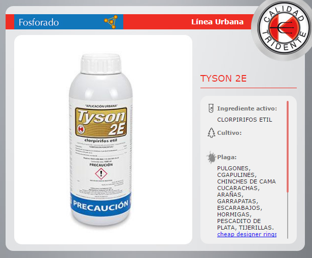 TYSON 2E, CLORPIRIFOS AMPLIO ESPECTRO BAJO OLOR 1 LT