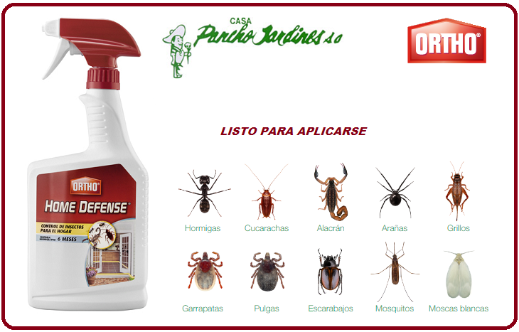 HOME DEFENSE BY ORTHO, INSECTICIDA DOMESTICO LISTO PARA APLICAR, 710 ml