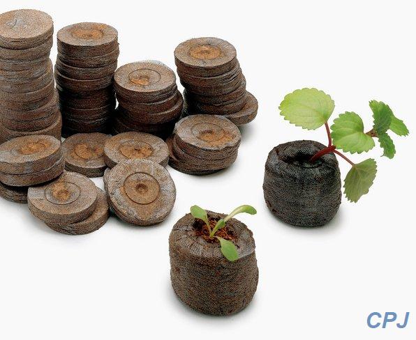 pellet de peat moss de 42mm para germinar semillas, caja con 500 piezas