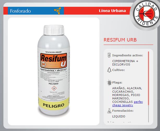 RESIFUM U, CIPERMETRINA MAS DICLORVOS 450 ml