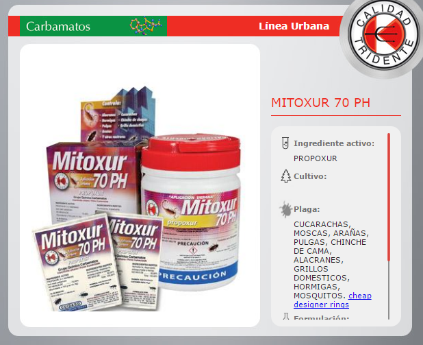 MITOXUR 70PH, PRPOXUR POLVO HUMECTABLE, 250 gr.