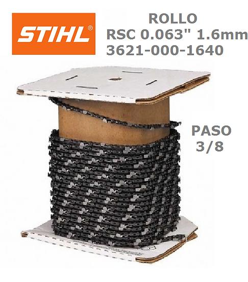 "ROLLO DE CADENA STIHL 36RSC  3/8"" X 1.6 X 1640 MS 290 A 660"