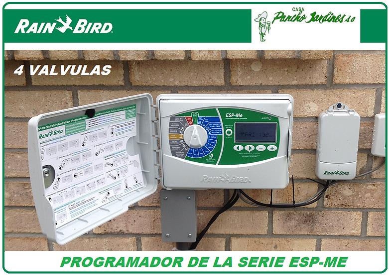 PROGRAMADOR DE RIEGO RAIN BIRD ESP ME 4 ESTACIONES EXTERIOR EXPANDIBLE