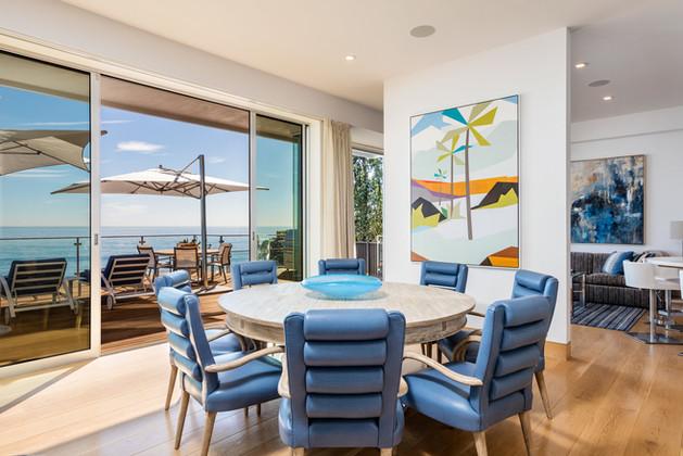 MALIBU BEACH HOUSE - DINING ROOM