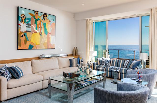 MALIBU BEACH HOUSE - LIVING ROOM