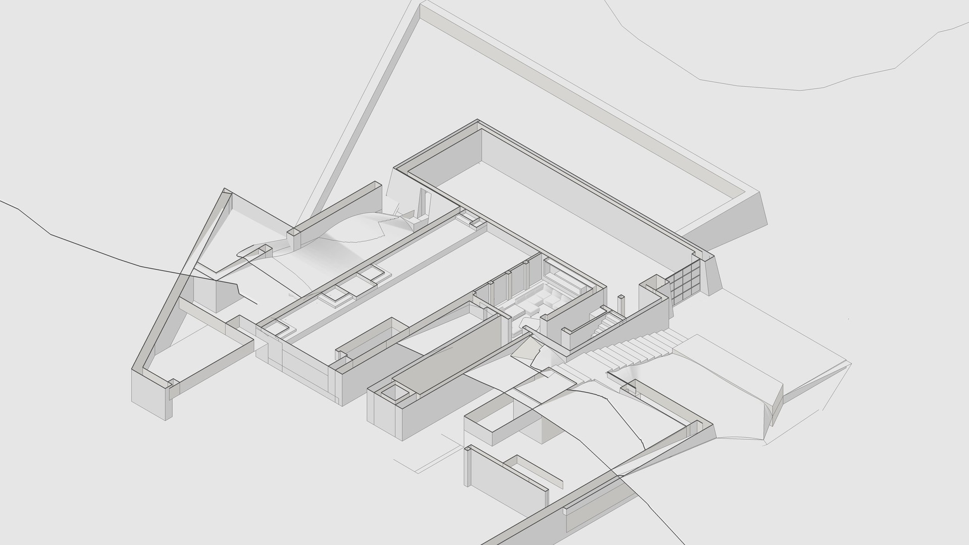 LA CANADA FLINTRIDGE RESIDENCE - LOWER FLOOR DIAGRAM