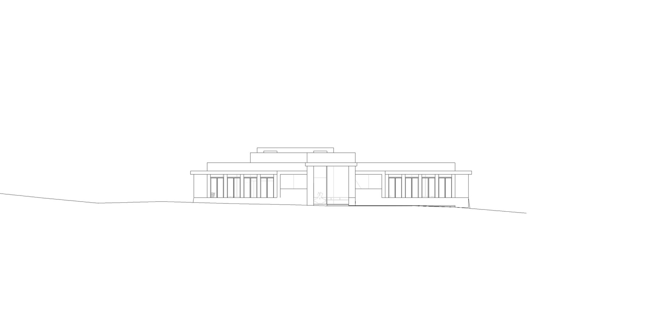 LA CANADA FLINTRIDGE RESIDENCE - NORTH ELEVATION