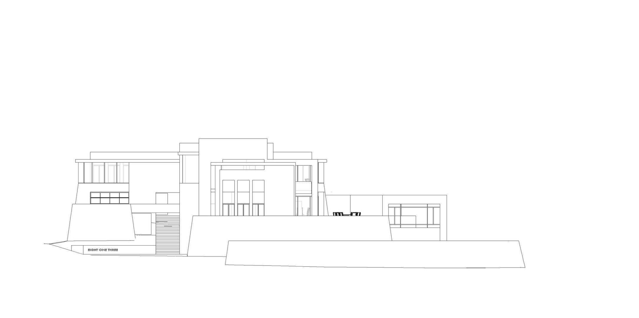 LA CANADA FLINTRIDGE RESIDENCE - SOUTH ELEVATION