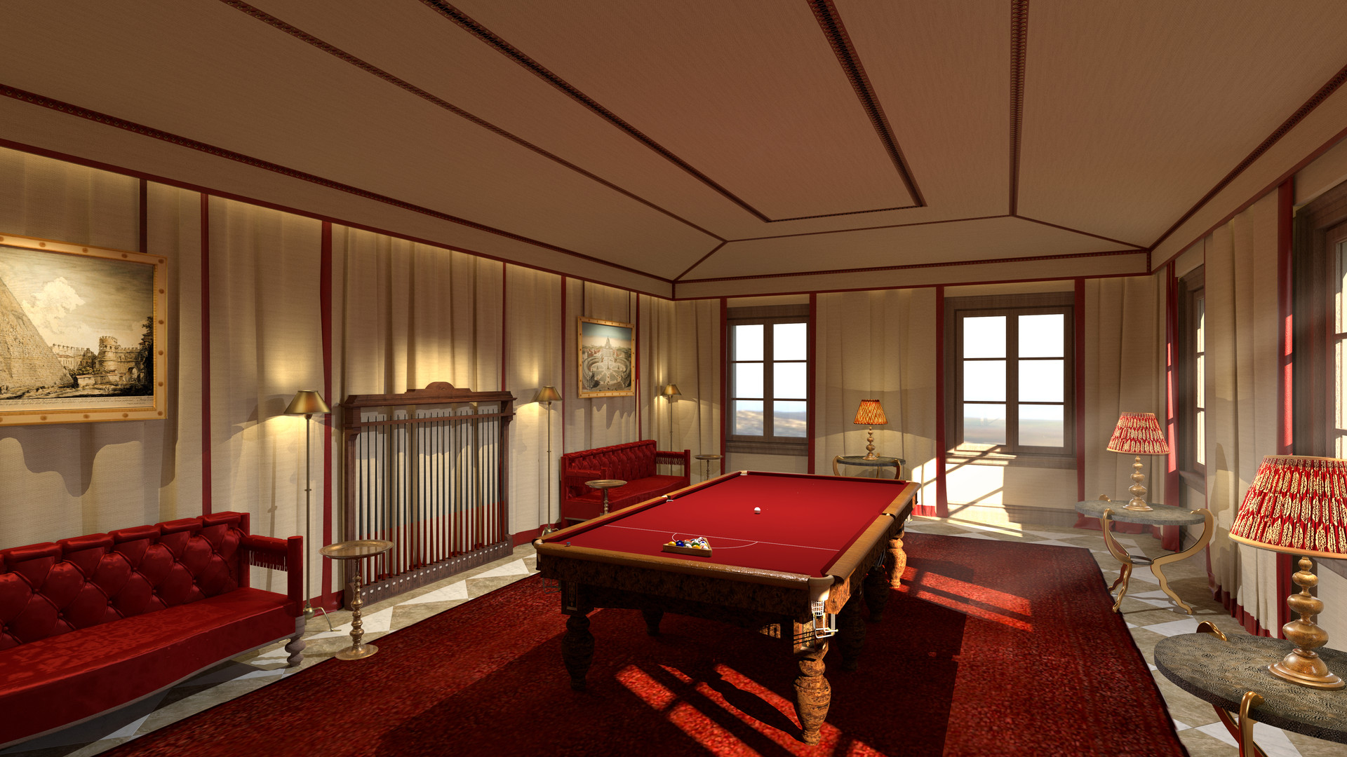 CARIBBEAN COMPOUND - SNOOKER ROOM