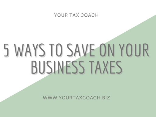 5 Ways to Save on Business Taxes