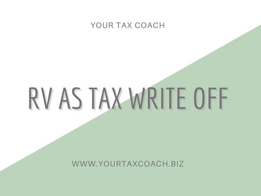 RV as a Tax Write Off