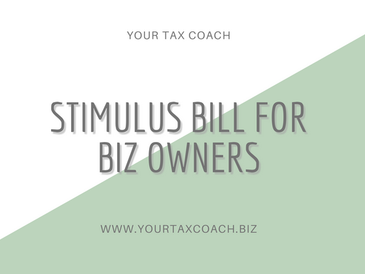 Stimulus Bill for Biz Owners