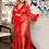 Thumbnail: Queen Red Robe Perspective Sheer Sleepwear With Fur