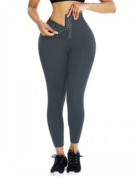 Grey High-waisted Body Shaping Legging (106,000 Ugx)