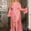 Thumbnail: Queen Black Robe Perspective Sheer Sleepwear With Fur Pink